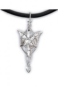 Lord of the Rings Pendant Mini Evenstar (Sterling Silver)