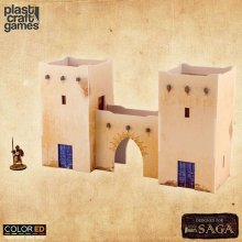 SAGA ColorED Miniature Gaming Model Kit 28 mm Arab Village Entra