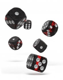 Oakie Doakie Kostky D6 Dice 16 mm Enclave - Ruby (12)