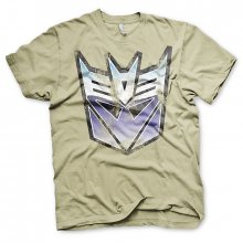 Khaki pánské tričko Transformers Decepticon Distressed Shield