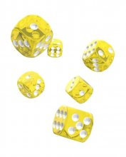 Oakie Doakie Kostky D6 Dice 16 mm Translucent - Yellow (12)