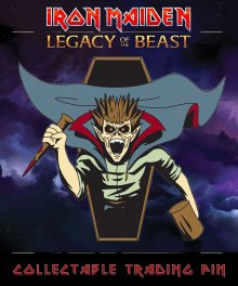 Iron Maiden Legacy of the Beast Odznak Vampire Hunter Eddie