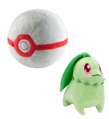 Pokemon Plyšák Chikorita with Premier Poke Ball 15 cm