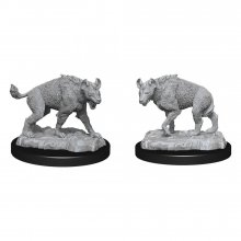 WizKids Deep Cuts Unpainted Miniature Hyenas Case (6)