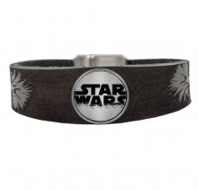 Star Wars Clicks Leather Bracelet Chewbacca / Logo Click Grey Si