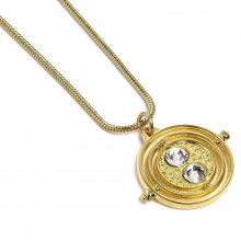 Harry Potter Pendant & náhrdelník Fixed Time Turner (gold plated