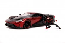 Marvel Hollywood Rides kovový model 1/24 2017 Ford GT with Mile