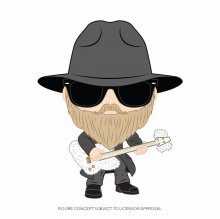 ZZ Top POP! Rocks Vinylová Figurka Dusty Hill 9 cm