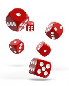 Oakie Doakie Kostky D6 Dice 16 mm Solid - Red (12)
