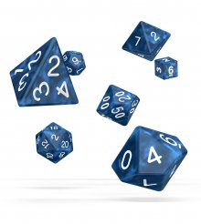 Oakie Doakie Dice RPG Set Marble - Blue (7)