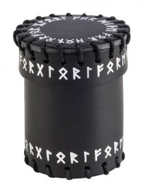 Runic Dice Cup black & white