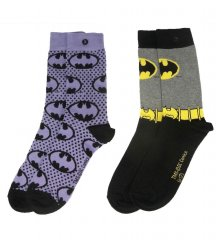 DC Comics Ladies ponožky 2-Pack Batman Purple