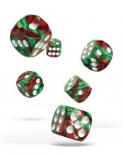 Oakie Doakie Kostky D6 Dice 16 mm Gemidice - Bloody Jungle (12)