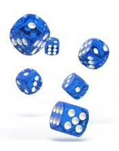 Oakie Doakie Kostky D6 Dice 16 mm Speckled - Blue (12)