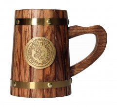 Asterix Wooden Beer Stein Asterix