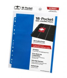 Ultimate Guard 18-Pocket Pages Side-Loading Blue (10)
