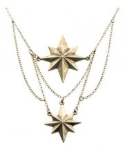 Captain Marvel Stainless Steel Pendants with Chain Stars