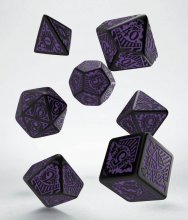 Call of Cthulhu: Horror on the Orient Express Dice Set black & p