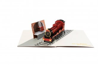 Harry Potter 3D Pop-Up Greeting Card Bradavice Express