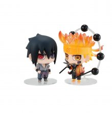 Naruto Chimimega Buddy Series Figure 2-Pack Naruto & Sasuke Set