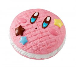 Kirby Super Star Donut Shop Squeeze Anti-Stress Figure Kirby Cre