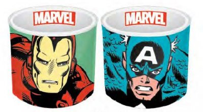 Marvel Comics Egg Cup 2 Pack Iron Man & Captain America