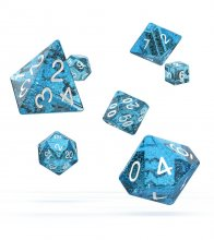 Oakie Doakie Dice RPG Set Speckled - světle modrá (7)