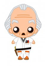 Back to the Future Pokis Rubber Minifigure Doc Brown 6 cm