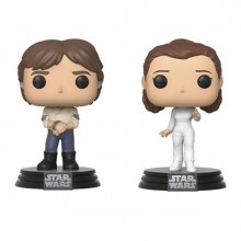 Star Wars POP! Movies Vinyl Figures 2-Pack Han & Leila Empire St