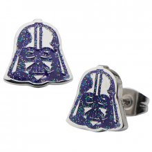Pecky Star Wars Episode VII Náušnice Darth Vader Purple Enamel