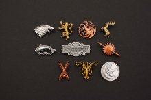 Game of Thrones 10-Pack sada odznaků Houses & Logo