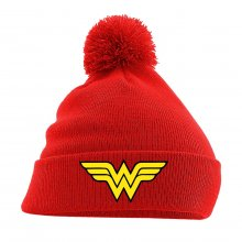 Wonder Woman Pom Pom pletená čepice Logo Red