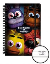 Five Nights at Freddy's poznámkový blok A5 Quad Case (12)