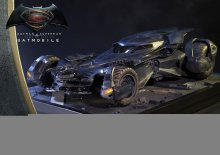 Batman v Superman Dawn of Justice Diorama 1/10 Batmobile 70 cm