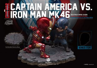 Captain America Civil War Egg Attack Socha 2-Pack Iron Man vs.