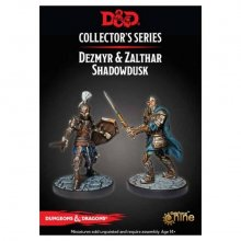 D&D Collectors Series Miniatures Unpainted Miniatures Dezmyr & Z