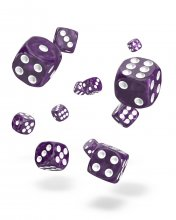 Oakie Doakie Kostky D6 Dice 12 mm Marble - Purple (36)
