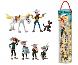 Lucky Luke Mini Figure 7-Pack Characters 4 - 10 cm