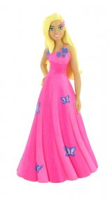 Barbie Dreamtopia Mini Figure Barbie Fantasy Pink Dress 10 cm