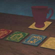 Harry Potter podtácky 4-Pack Houses Crests