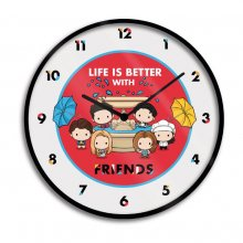 Friends Wall Clock Life is Better with Friends Chibi