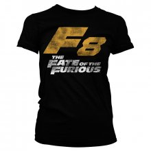 The Fate Of the Furious Dámské tričko F8 Distressed Logo Černé