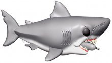 Jaws Oversized POP! Movies Vinylová Figurka Jaws with Diving Tan