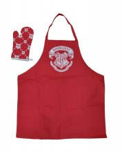 Harry Potter cooking apron with oven mitt Bradavice Logo