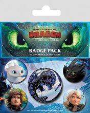 How to Train Your Dragon 3 sada odznaků 5-Pack Familiar Faces