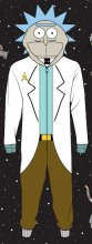 Rick and Morty Onesie Rick Sanchez Size S