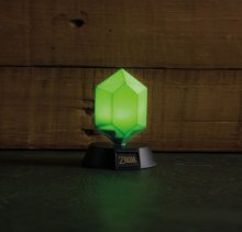 Legend of Zelda 3D světlo Green Rupee 10 cm