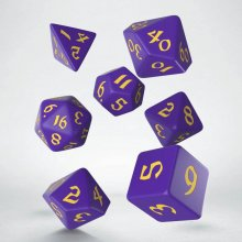 Classic RPG Runic Dice Set purple & yellow (7)