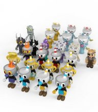 Cuphead Stavebnice Blind Box Figures Series 1 Display (24)