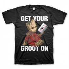 Guardians Of The Galaxy T-Shirt Rocket & Groot black